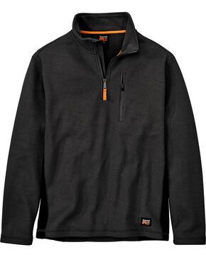 Timberland Men's Studwall Textured 1/4 Zip Fleece Pullover , Black, hi-res