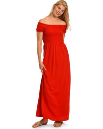 Polagram Women's Off The Shoulder Maxi Dress , , hi-res