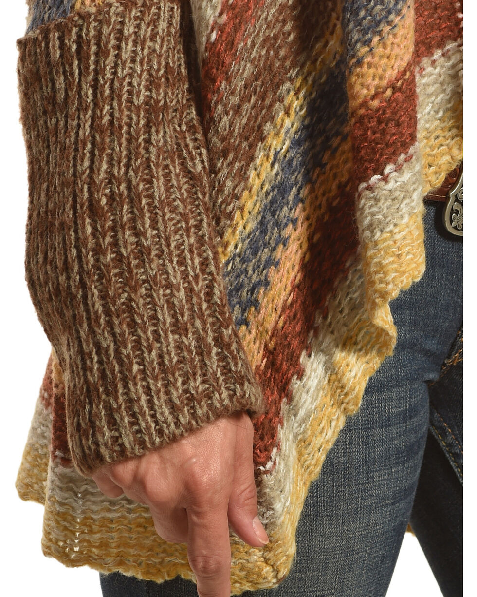 Nostalgia Women's Striped Open Front Knitted Cardigan, Multi, hi-res