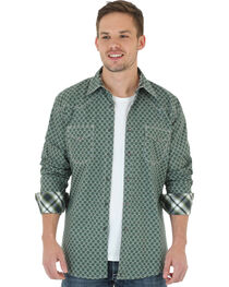 Wrangler 20X Men's Foulard Print Long Sleeve Shirt, , hi-res