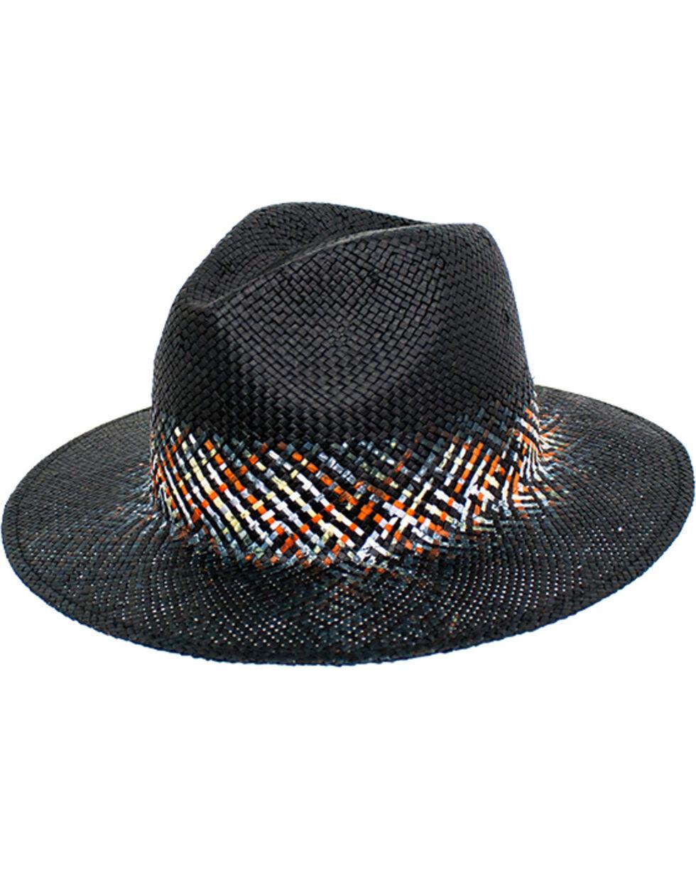 Peter Grimm Women's Black Danae Straw Hat , Black, hi-res