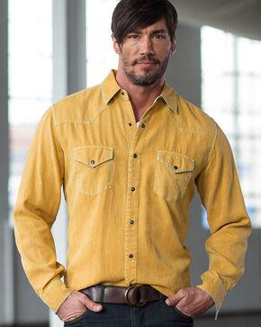 Ryan Michael Men's Aztec Silk Jacquard Shirt, Yellow, hi-res