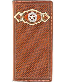 Nocona Basketweave Star Concho Rodeo Wallet, , hi-res