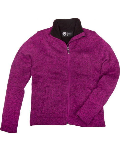 Key Women's Pink Sweater Knit Jacket, Pink, hi-res
