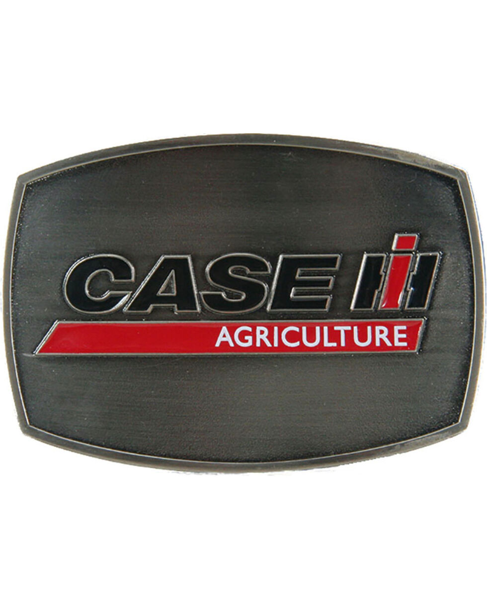 Western Express Men's Silver Case IH Belt Buckle , Silver, hi-res