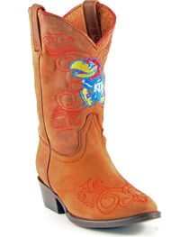 Gameday Boots Girls' University of Kansas Western Boots - Medium Toe, , hi-res