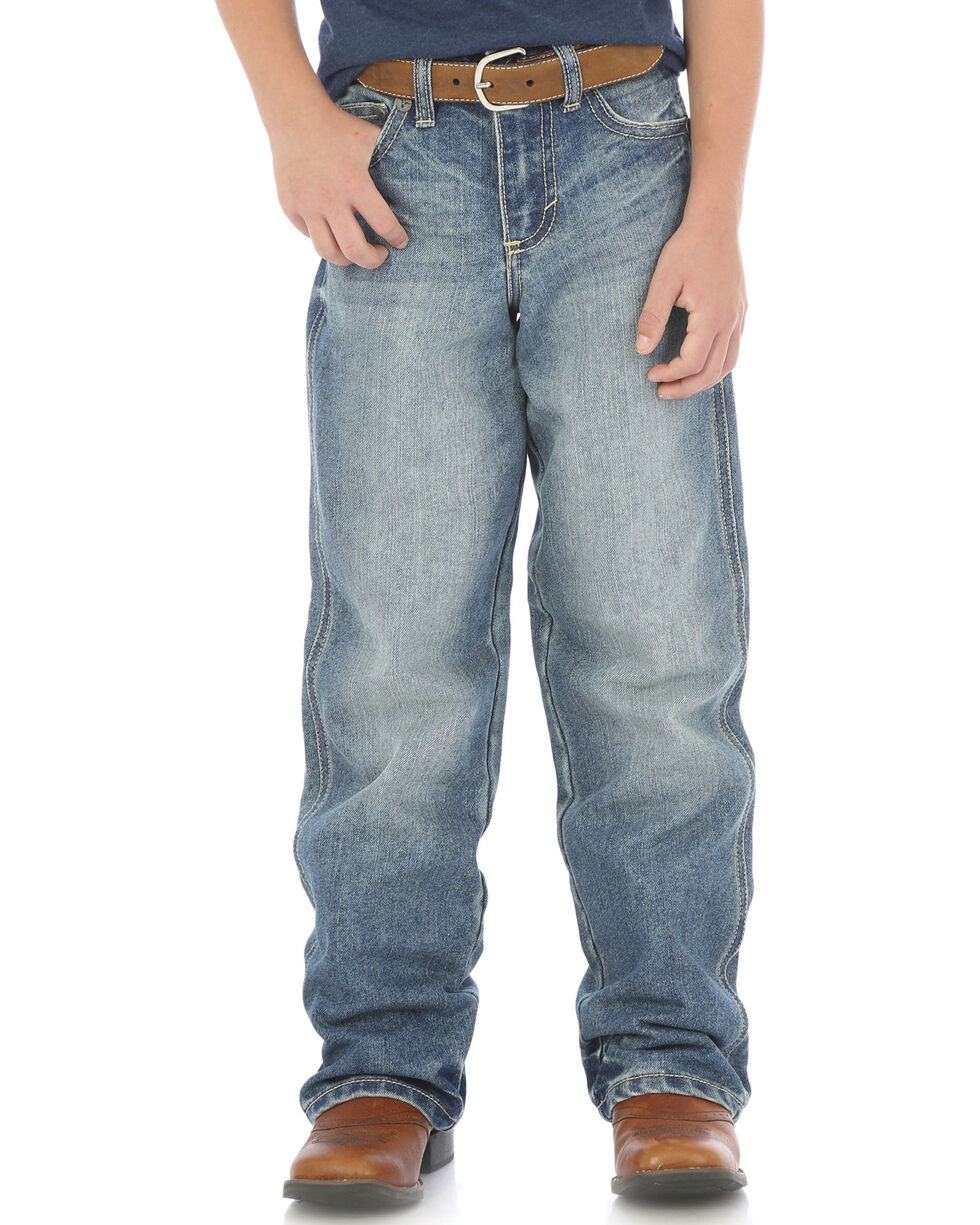 Wrangler Boys' (8-16) 20X No. 33 Relaxed Fit Jeans - Straight Leg , Indigo, hi-res