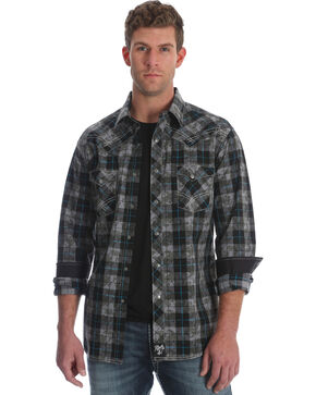 Wrangler Rock 47 Men's Black Western Shirt , Black, hi-res