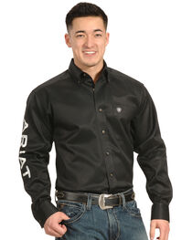 Ariat Men's Embroidered Team Logo Long Sleeve Shirt, , hi-res