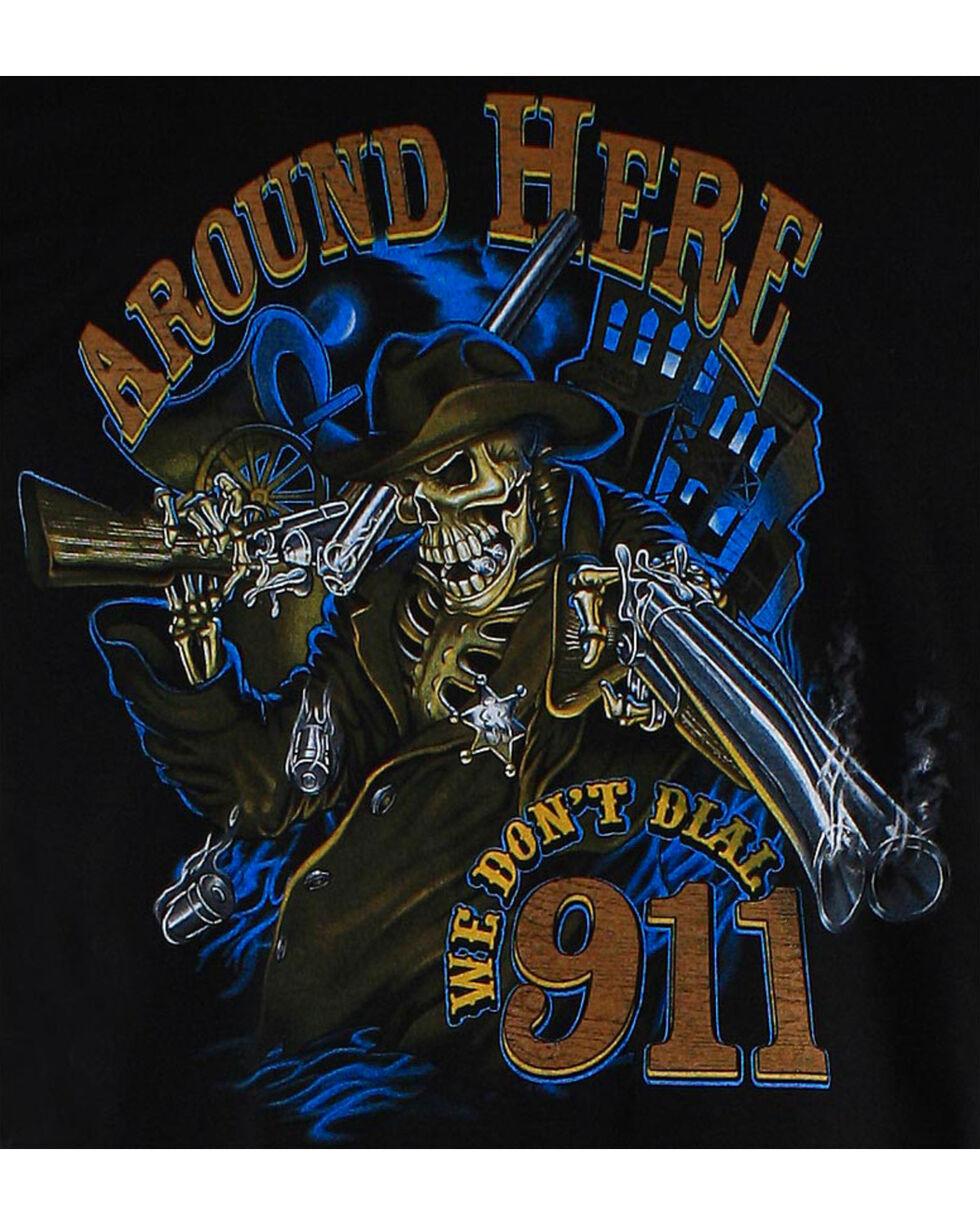 Cowboy Up Men's Graphic Print Tee, Black, hi-res