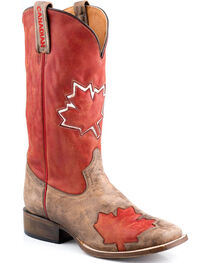 Roper Men's O' Canada Canadian Flag Western Boots, , hi-res