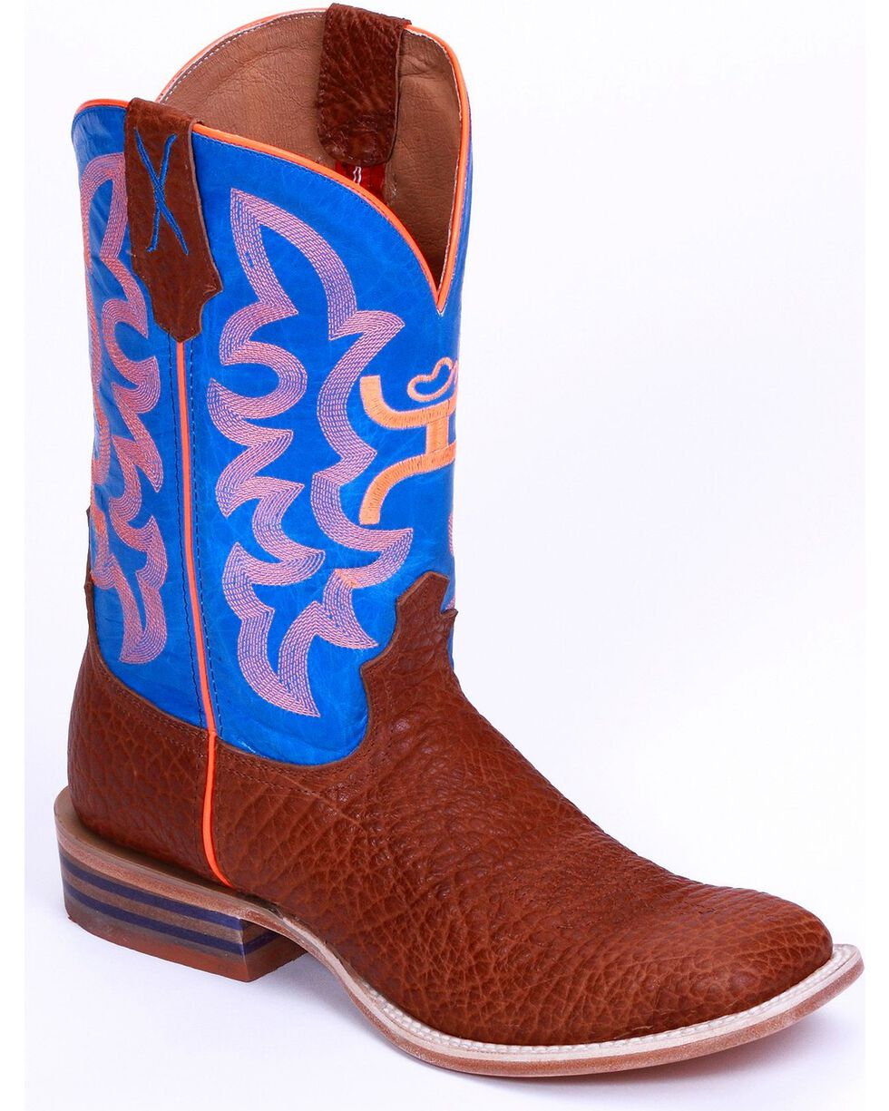 HOOey by Twisted X Kid's Square Toe Western Boots, Cognac, hi-res