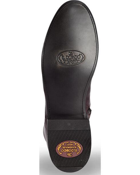 El Dorado Men's Black Cherry Leather Urban Lacer Boots - Round Toe, Black Cherry, hi-res