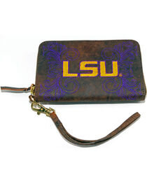Gameday Boots Louisiana State University Leather Wristlet, , hi-res