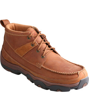 Twisted X Men's Lace-Up Hiking Shoes, Brown, hi-res