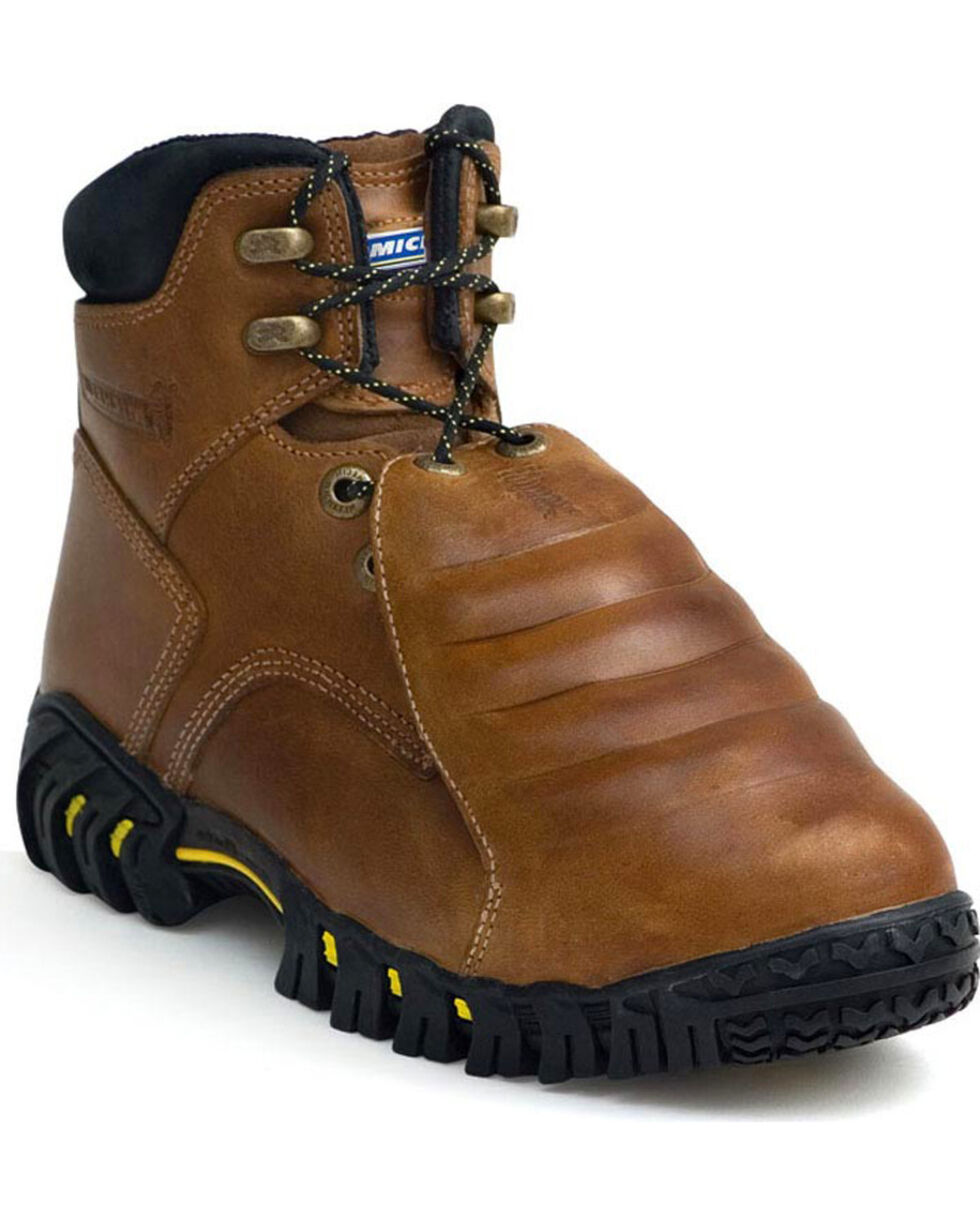 Michelin Men's Sledge Metatarsal Steel Toe Work Boots, Brown, hi-res