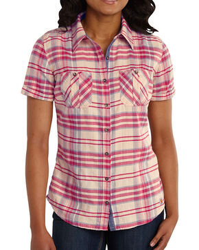 Carhartt Women's Brogan Shirt, Red, hi-res