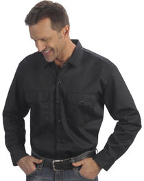 Dickies Men's Black Hanging Long Sleeve Work Shirt , , hi-res