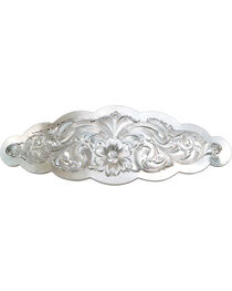 Montana Silversmiths Small Scalloped Montana Silver Barrette, , hi-res