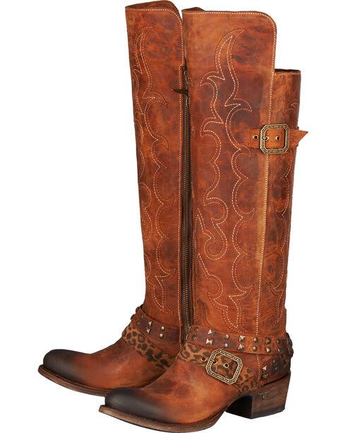 Lane Women's Julie Western Fashion Boots, Brown, hi-res