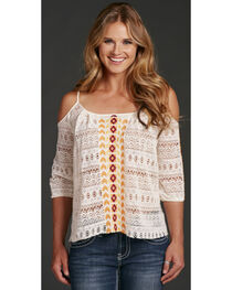 Cowgirl Up Cold Shoulder Top, , hi-res