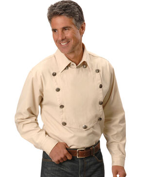 Scully Men's Range Wear Bib Shirt, Natural, hi-res