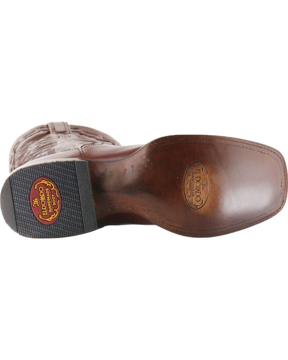 El Dorado Men's Cutter Toe Vanquished Calf Western Boots, Tan, hi-res