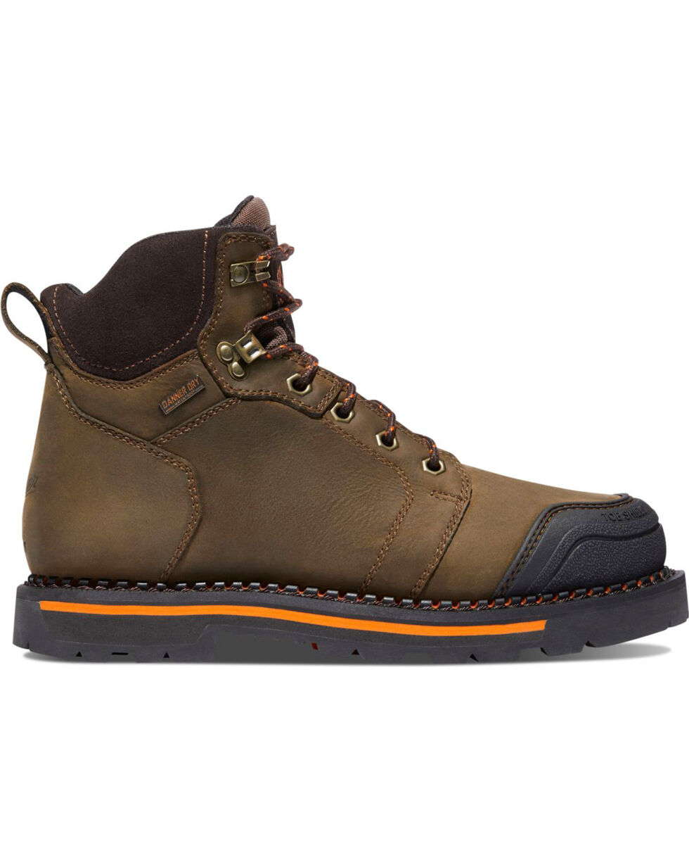 "Danner Men's Brown Trakwelt 8"" Boots - Non-Metallic Toe , Brown, hi-res"