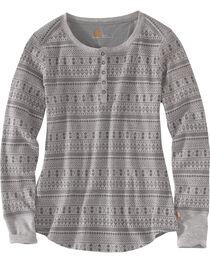 Carhartt Women's Meadow Printed Henley Shirt , , hi-res