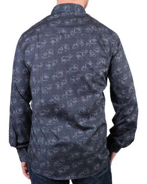Cody James® Men's Paisley Patterned Long Sleeve Shirt, Grey, hi-res