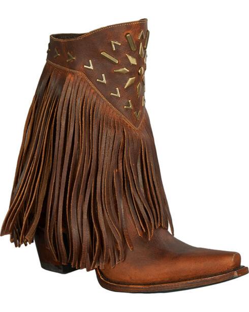 Lane Women's Fringe It Western Fashion Boots, Brown, hi-res