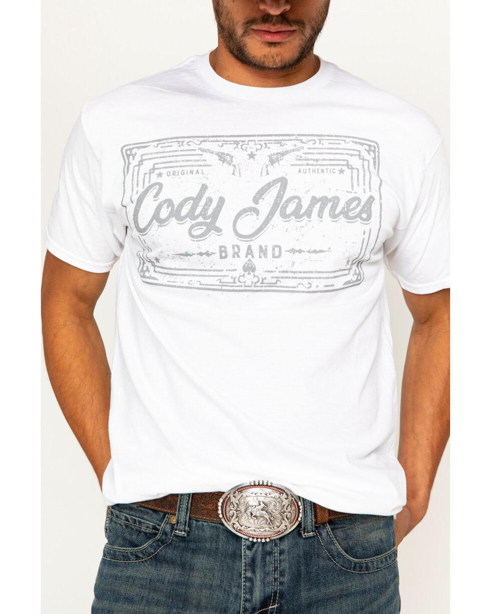 Cody James Men's Logo Screen Print T-Shirt, White, hi-res