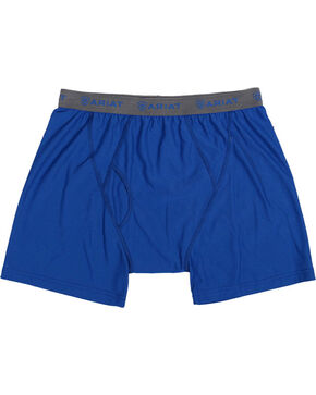 Ariat Men's UnderTEK Boxer Briefs, Blue, hi-res