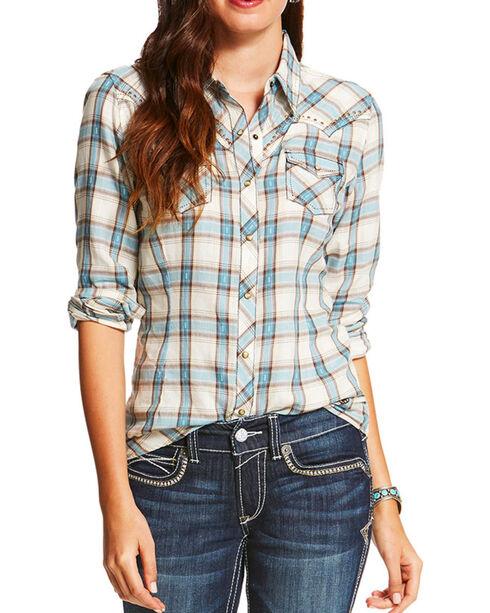 Ariat Women's Randie Fitted Long Sleeve Snap Shirt, Multi, hi-res