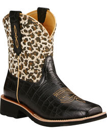 Ariat Women's Fatbaby Collection Rosie Gator Print Western Boots, , hi-res