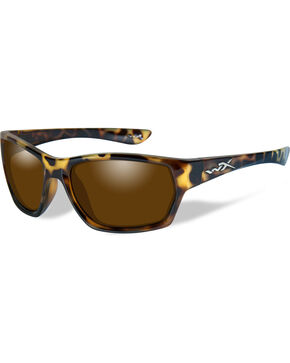 Wiley X Moxy Polarized Bronze Gloss Demi Sunglasses , Brown, hi-res