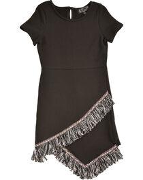 Shyanne Girls' Fringe Hem Short Sleeve Knit Dress, , hi-res