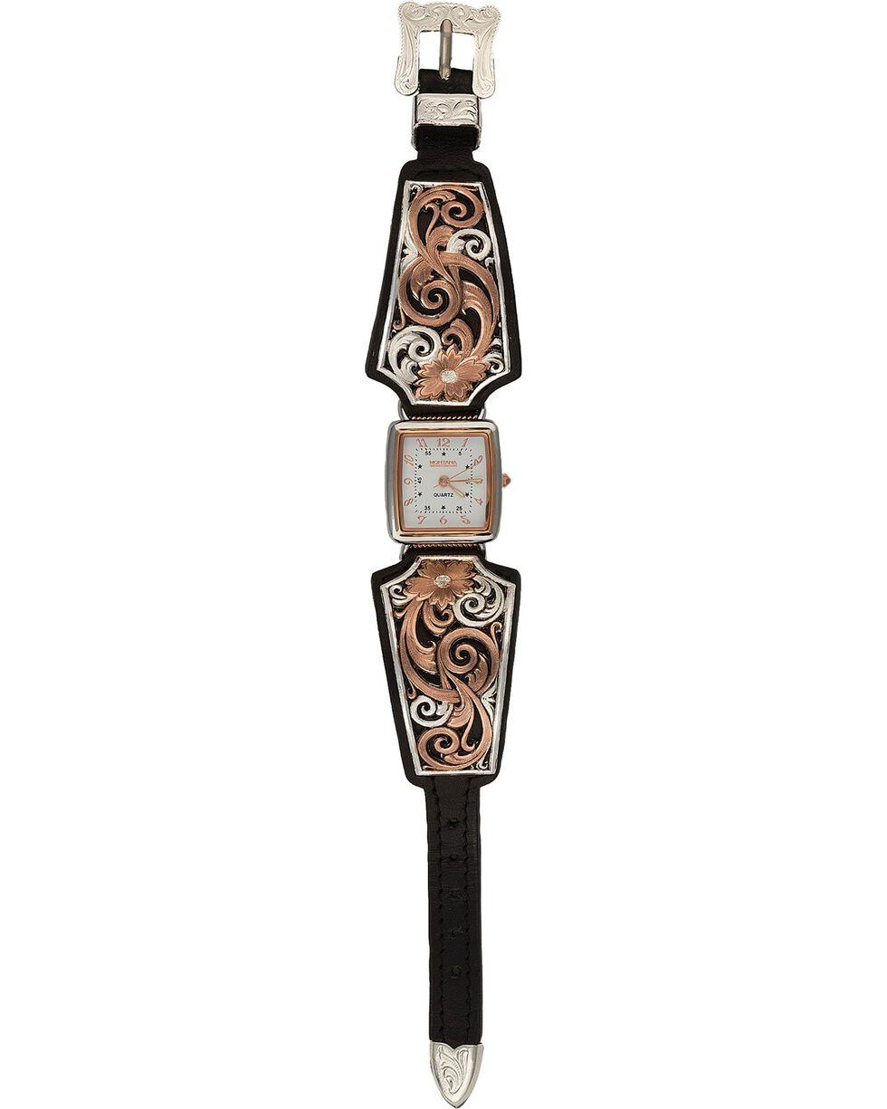 Montana Silversmiths Women's Rose Gold & Silver Watch, Silver, hi-res