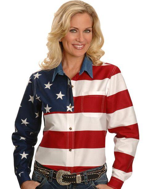 Roper Flag Shirt, White, hi-res