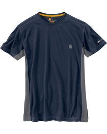 Carhartt Men's Navy Force Extremes Short Sleeve T-Shirt , , hi-res