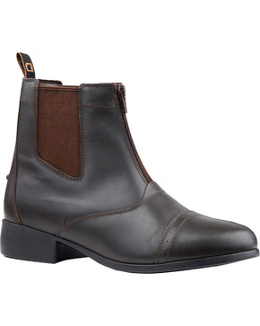 Dublin Kids' Foundation Zip Paddock Boots, Brown, hi-res