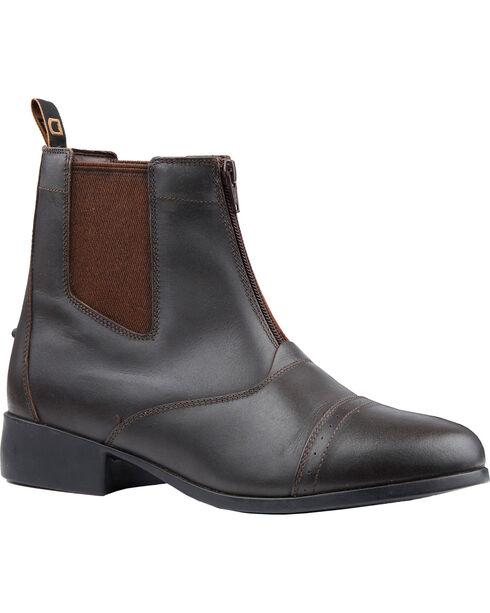 Dublin Kids' Foundation Zip Paddock Boots, Brown, hi-res