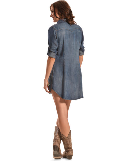 Cowgirl Justice Women's Durango Tencel Denim Tunic Dress, , hi-res