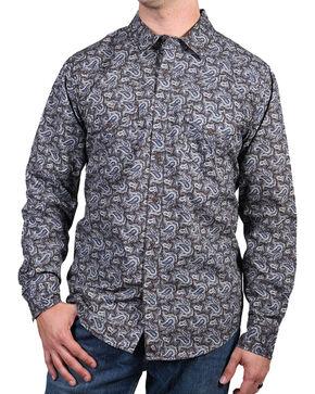 Cody James® Men's El Dorado Paisley Long Sleeve Shirt, Tan, hi-res