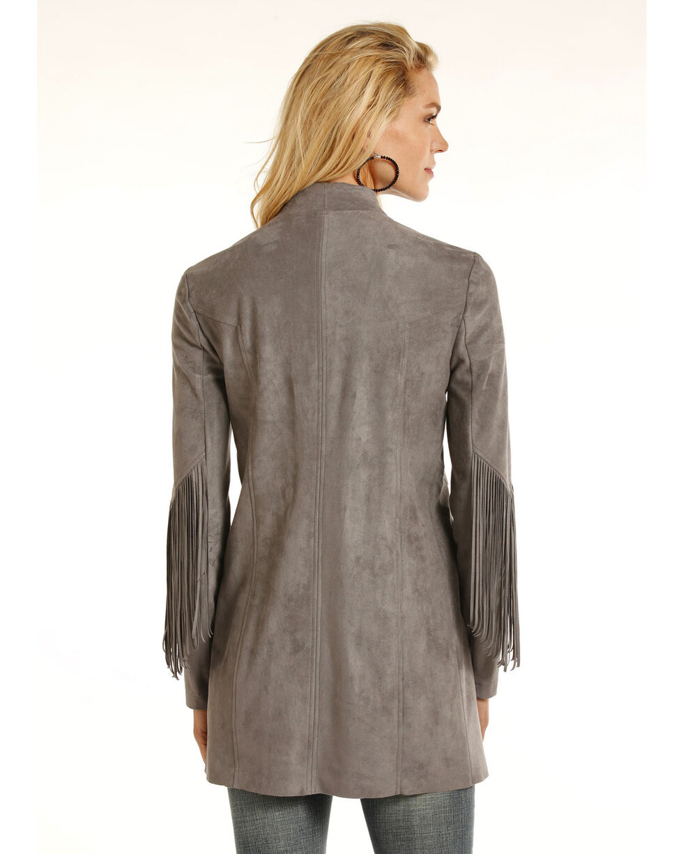 Powder River Outfitters Women's Micro Suede Fringe Jacket, , hi-res