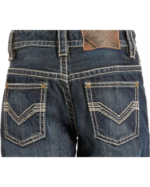 "Rock & Roll Cowboy Boys' Large ""V"" Stitch Jeans - Boot Cut , Indigo, hi-res"