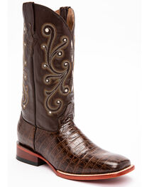 Ferrini Men's Alligator Belly Print Western Boots, , hi-res