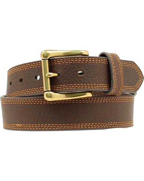 HDX Triple Stitched Belt, Brown, hi-res