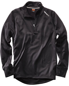 Timberland Pro Men's Understory 1/4-Zip Fleece Shirt, Black, hi-res