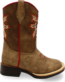 Double Barrel Toddler Boys' Clay Western Boots - Square Toe , , hi-res
